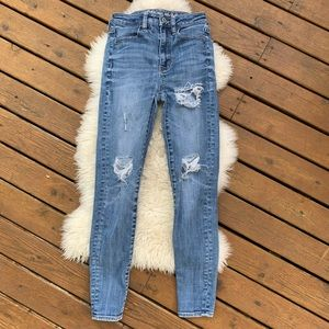 American Eagle High-Rise Skinny Distressed Jeans